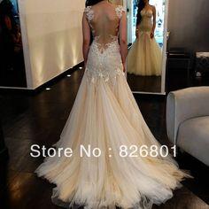 Vestido De Noiva 2014 Sexy Backless Wedding Dresses Tulle Mermaid Country Lace Unique Wedding Dresses 2014 Vestido De Casamento
