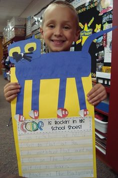 Writing activity to go with PETE the Cat Rocking in his School Shoes