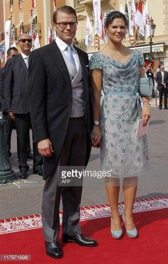 Prince Daniel, Duke of Vastergotland and Crown Princess Victoria of Sweden arrive for the religious wedding of Prince Albert II of Monaco and Princess Charlene of Monaco at the Prince's Palace on July 2, 2011 in Monaco.