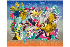 Exhibition of works made by Frank Stella in collaboration with Kenneth Tyler on view in Australia