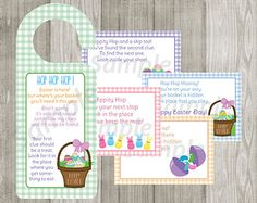 Printable Easter Basket Hunt Riddle Game INSTANT DOWNLOAD Easter Egg Hunt Printable Games Riddles Puzzles Kid Fun Holiday