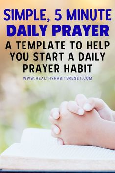Can a simple, daily prayer habit change your life? Here's a great starting point. #dailyprayer #prayertips #christianprayer Catholic Prayers For Strength, Catholic Prayer For Protection, Catholic Prayer For Healing, Catholic Prayers Daily, Catholic Religious Education, Catholic Memes, Prayers For Healing, Prayer For Help, Prayer For Guidance