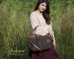 GET 100Rb OFF FOR EVERY 800Rb PURCHASE . ALL ITEM TILL10 JULY 2017!! . *berlaku kelipatan  CAMILLA TUBAN LURIK BAG  by: Kuppu Batik & Tenun IDR 3.300.000  A beautiful Lurik batik tenun gedog (handwoven threads then hand drawn) from Tuban, East Java Indonesia - Chestnut brown Italian genuine cow leather - Medium size 35x27x12cm (LxHxW) - Eco-suede fabric lining - With long straps - With Kuppu handbag tag - Weight: 0.8 kg  More info  Laura 08119103668 Line id kuppubatiktenun