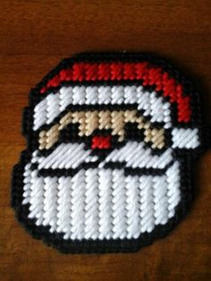 Plastic canvas santa