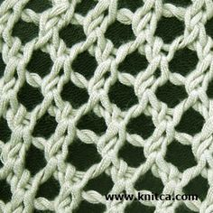 Simple but oh! so cute mesh stitch pattern