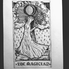 THE MAGICIAN #tarot #tarotcards #illustrator #occult #micronpen #black #blackdesign #tattoo #ancient #medieval #paper #papyrus #darkobsession #drawpractice #drawing #helsinki #sketch #artistic #pen #pilot #illustration #woodcut #ink #graphic #dotwork #dots #iblackwork #darkartists