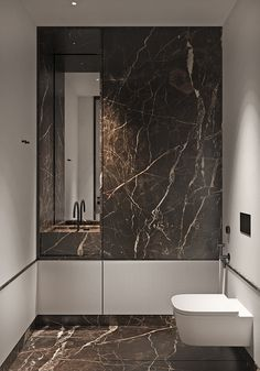 Magnificent Modern Marble Interior With Metallic Accents Marble feature walls, wood effect wall panels, and textured glass shape the luxurious decor of a modern interior. Featuring walk-in wardrobes & bespoke storage. Luxury Decor, Luxury Interior, Modern Interior, Home Interior Design, Interior Architecture, Modern Decor, Creative Architecture, Marble Interior, Bathroom Interior