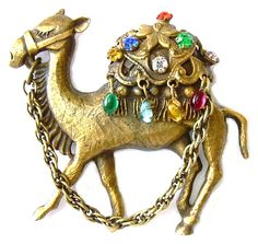JOSEFF (of Hollywood) 'Bejewelled' Camel Brooch