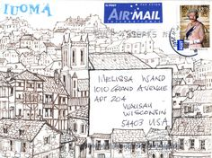 This breathtaking envelope I received the other day from Jill has inspired me to work on my drawing skills.