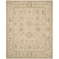 Safavieh Handmade Anatolia Taupe/ Blue Wool Rug (9' x 12') | Overstock.com Shopping - The Best Deals on 7x9 - 10x14 Rugs.  For Den.