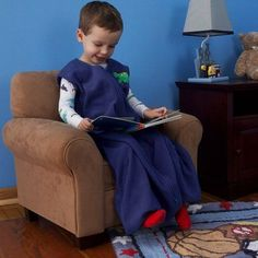 Halo - Big Kid's SleepSack Fleece Wearable Blanket, Blue, Size: 2 Toddler/3 Toddler