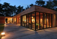 Gorgeous Design Ideas 4 Modern Wooden Homes Wooden House Design With Modern Wood House Ideas Building A Container Home, Container House Plans, Container House Design, Modern Wood House, Modern House Design, Modern Houses, Residential Architecture, Architecture Design, Landscape Architecture