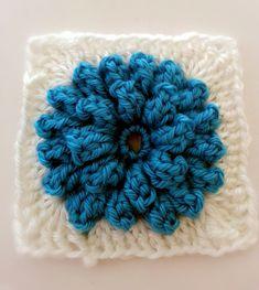 Popcorn Stitch Flower: Free Pattern and video tutorial