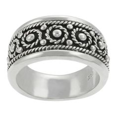 Sterling Silver Braided Design Womens Ring - Silver