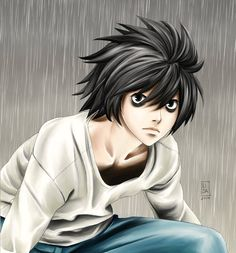 You can share my umbrella if you like, sweetheart Death Note L, L Lawliet, Anime, Deviantart, Cartoon Characters, Universe, Birthday, Sweet, House
