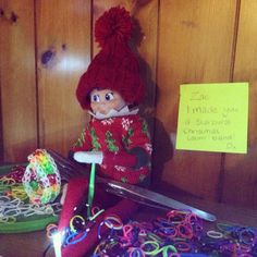 Elf on the shelf- loom band