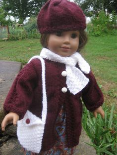 Ravelry: monicarose51's Doll Hat, Coat, Bag and scarf, JULY 2012 KAL