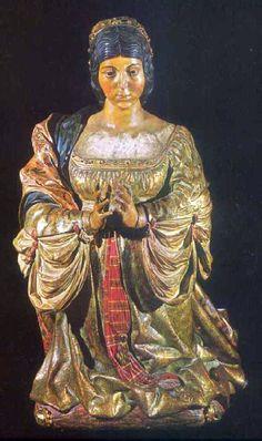 Talla de Isabel la Católica en la Capilla Real de la Catedral de Granada, obra de Felipe de Vigarny - Portal Fuenterrebollo
