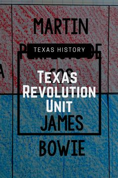Texas Revolution Unit Bundle with Lesson Plans Texas Revolution, History Classroom, Texas History, Interactive Notebooks, Task Cards, Assessment, Lesson Plans, Vocabulary, Curriculum