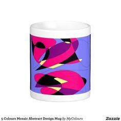 5 Colours Mosaic Abstract Design Mug