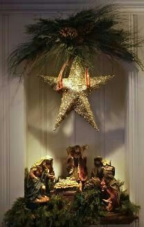 another pretty nativity display - Nativity Christmas Decorations