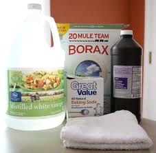 "DIY natural cleaners + recipe for a very clean toilet (aka, ""Toilet Bomb with a Lemonade Chaser"") : http://regardingnannies.com/2013/02/home-made-natural-cleaners/ adds Kool-Aid to her recipes...worth a try"