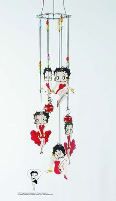 Betty Boop Wind Chime Red Dress Style