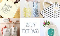 26 DIY Tote Bags