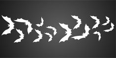 """Glass Halloween Bat Border Stencil - Terracotta Floors Wood size 6/""""w x 1.5/""""h Fabrics and More/…/… Reusable Wall Stencils for Painting /& Holiday Projects Use on Walls"""