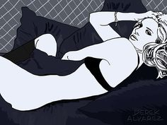 Woman Reclining in Bed by Derek Alvarez