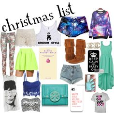 """my christmas list"" by abbygracehughes ❤ liked on Polyvore"