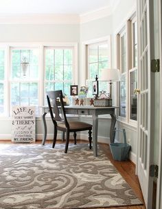 sherwin williams sea salt bedroom | Sea Salt Paint by Sherwin Williams - and love the rug!