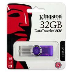 รีบเป็นเจ้าของ  Kingston DataTraveler101G2 32GB USB 2.0 (Purple)  ราคาเพียง  479 บาท  เท่านั้น คุณสมบัติ มีดังนี้ ความจุ 32GB ไม่มีฝาปิด หมุนเปิดหัวไดรฟ์ USB 2.0 รองรับ Windows® 8.1, Windows 8, Windows 7, Vista® &Mac