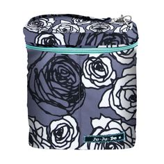 Ju Ju Be Fuel Cell Bottle Bag - Charcoal Roses | Designer Diaper Bags www.duematernity.com