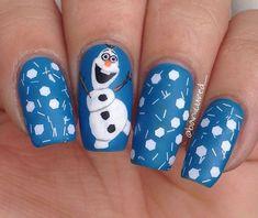 disney's frozen inspired nail artolaf con immagini