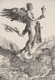 Albrecht Dürer, Nemesis, engraving, c. 1501.