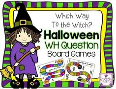 Get in the Halloween spirit with these fun board games that practice all of the different WH- questions! Your speech and language therapy students will not only get to practice the questions--with the help of visual aids--but they'll also get to have FUN while they learn! You don't want to miss out on these games!