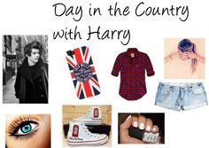 """Day in the Country with Harry"" by caitlynroseofficial ❤ liked on Polyvore"