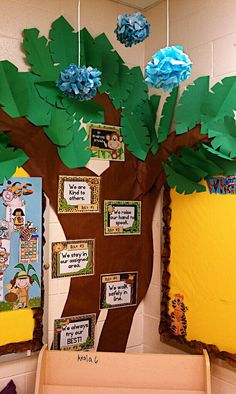 great tree for jungle themed classroom