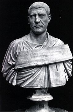 Portrait of Philip the Arab, C. A Syrian emperor, he reigned for five years before being overthrown. His portraits reflect Caracalla's and Maximinus Thrax's. Philip wears a different type of toga, called a trabeated toga, which has a broad band Ancient Rome, Ancient Greek, Ancient History, Hail Caesar, Roman Sculpture, Roman Emperor, Roman Art, Historical Artifacts, Carthage
