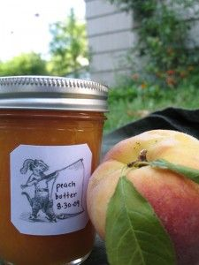 Peach butter recipe.  Loads of great canning recipes on this site