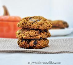 Pumpkin chocolate chip cookies #glutenfree#vegan via @Melissa Squires @ mywholefoodlife.com