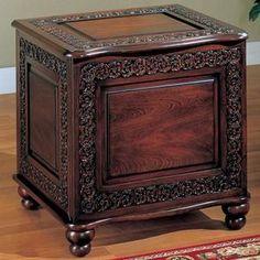 Mini square cedar chest