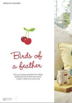 CrossStitcher №292 (June 2015) - Birds  of a Feather Pillows 1/6