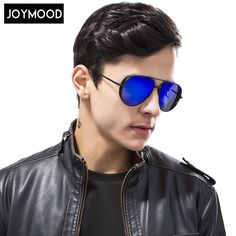 JOYMOOD Vintage Pilot Polarized Sunglasses Men Black HD Anti UV Rays Lens Double Beam Driving Sun Glasses For Men Oculos De Sol men in * Find similar products on AliExpress website by clicking the VISIT button