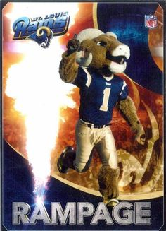 #STLRams mascot Rampage.