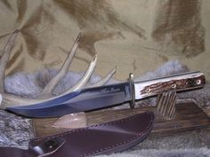 MARBLES MOUNTAIN MAN BOWIE HUNTING KNIFE W/ SHEATH CASE NR!! #MARBLES