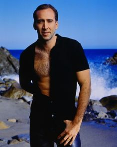Nicolas Cage | 18 Actors Who Have Posed For Seriously Cheesy Photos With Their Chest Exposed