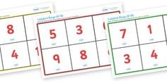 Ladybird Bingo (0-10) - Ladybird, bingo, number game, 0-10, Number words, Numerals, Foundation Numeracy, Number recognition, Number flashcards , minibeasts