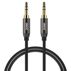 Deals week Aux Cable 6 Feet iXCC Auxiliary Stereo Audio Cable Male to Male with Gold-plated Connector for All Aux Jack Devices Apple Samsung Android Windows Smartphones Tablets and Players - Gray Best Selling Audio Connection, Portable Speaker System, Aux Cord, Output Device, Male To Male, Ipad Mini 3, Chromebook, Samsung Galaxy, Android Windows